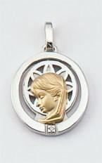18 k médaille d\'or, d\'argent et brillante  300-1 Finor