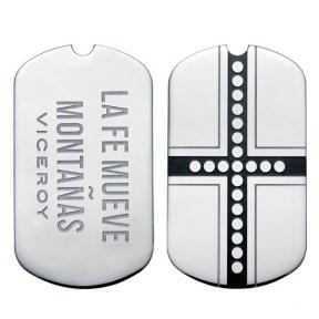Médaille médaillon viceroy PLAISIR en acier VMC0011-10