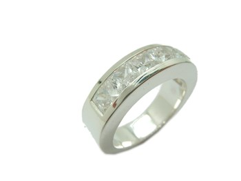 RING MEDIA ALLIANCE SILVER AND WHITE STONES B-79 A-866-BLN