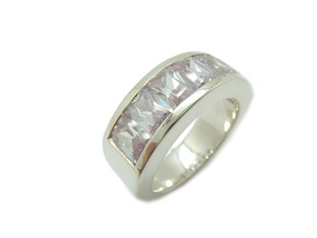 RING MEDIA ALLIANCE SILVER AND ZIRCONS LAVENDER A-871-LAV B-79