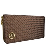 WALLET LONG WOMEN'S GLAM ROCK SATIN BROWN 8435334899921