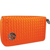Monedero Mujer Largo Glam Rock Satin Naranja 8435334899952
