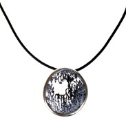 NECKLACE SILVER ENAMEL ORFEGA SHADES OF GRAY SILVER NUANCED 0116245P-3