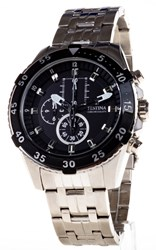 Reloj Festina Cronómetro Acero cadena esfera negra saetas fluorescente F16603-2