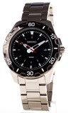 SEIKO WATCH STEEL BLACK DIAL ARROWS FLUORESCENT SGEE49P1
