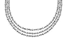 COLLAR STEEL LOTUS 3 STRIPS LINKS-DIAMOND LS1764-1-1