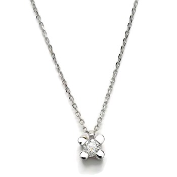 NEVER SAY NEVER NECKLACE WITH A DIAMOND OF 0.12 CTS, AND WHITE GOLD 18KTES. 40CM