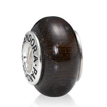 Pandora wood bead and silver 790704