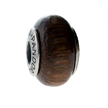 Pandora wood bead and silver 790701