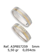PAIR OF TWO-TONE GOLD WEDDING RING