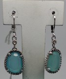 LB021ZA.00 CHALCEDONY SILVER EARRINGS Le Carré