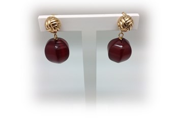 EARRING ANTONIO PERNAS GOLD AND NATURAL AGATE 6250-P