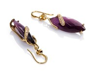 PLATED EARRING GOLD GEM AND CRYSTAL SRA BIJOUX Viceroy B1076E100-97