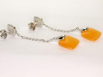 0082 Orange quartz earring NUOVEGIOIE