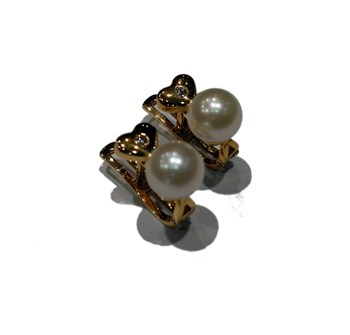 Coeur or 1 1 lumineux Pearl EARRINGS