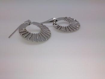 Boucles d\'oreilles argent plaqué rhodium