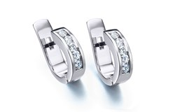 Earrings white gold and brilliant B-79 B-184