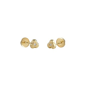 EARRINGS BABY LAW 18 K GOLD YELLOW WITH BRILLIANT 446435 O / Karammelo 446435 o/a