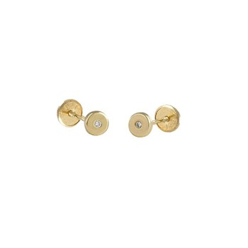 EARRINGS BABY LAW 18 K GOLD YELLOW WITH BRILLIANT 446450 O / Karammelo 446450 o/a
