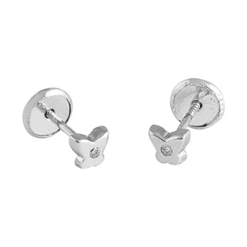 EARRINGS BABY GOLD LAW 18 K GOLD WITH BRILLIANT 446526 O/B Karammelo