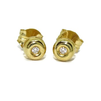 EARRINGS 0.08 CTS OF DIAMONDS AND YELLOW GOLD 18KTES. NEVER SAY NEVER