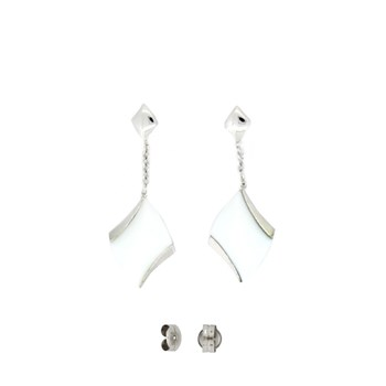 EARRINGS WHITE CERAMIC 88E13W Stradda