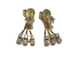 CUBIC ZIRCONIA EARRINGS AND GOLD 18 CARATS