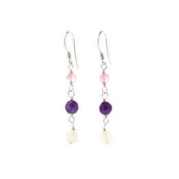 EARRINGS WITH NATURAL STONES 15E28 Stradda
