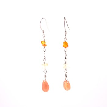 EARRINGS WITH NATURAL STONES 15E29 Stradda