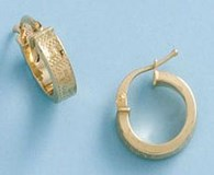 EARRINGS CREOLE GOLD - OWN - 1900-12MM