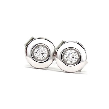 EARRINGS 0.24 CTS OF DIAMONDS AND WHITE GOLD 18KTES NEVER SAY NEVER