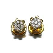 Pendientes de 0.28cts de diamantes y oro amarillo de 18ktes Never say never