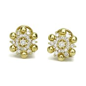 EARRINGS DIAMONDS 0.82 CTS, AND YELLOW GOLD 18CTS. CLOSE OMEGA 1.20 CM DI�METRO NEVER SAY NEVER