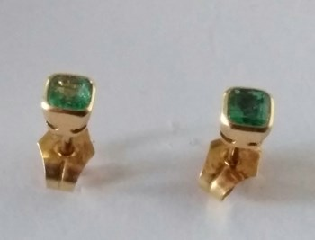 EARRINGS OF EMERALDS