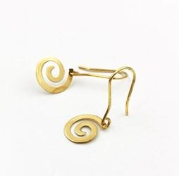 Pendientes de espiral en oro amarillo 1/19007/201