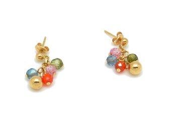 Gold with stones earrings