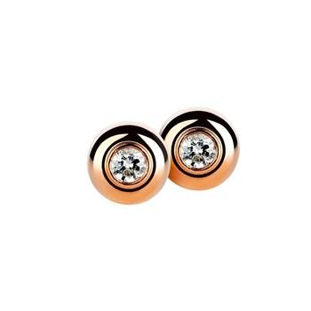 Roses Boucles d\'oreilles or et diamants. CNE-0103/5 Oreage