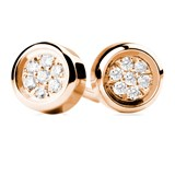 EARRINGS OF GOLD ROSE AND DIAMONDS. CNE-0037/67 Oreage
