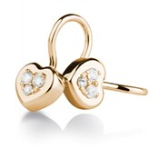 Roses Boucles d oreilles or et diamants. CNE-0092/63 Oreage