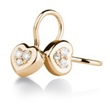 EARRINGS OF GOLD ROSE AND DIAMONDS. CNE-0092/63 Oreage