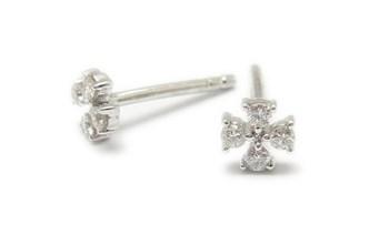 Boucles d\'oreilles or et diamant