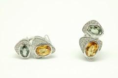 Pendientes de oro y diamantes