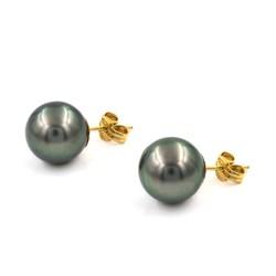 Pendientes de perlas de tahití de 12mm y oro 18k 12MM-PT