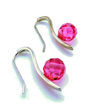 FRANCE PINK SILVER EARRINGS
