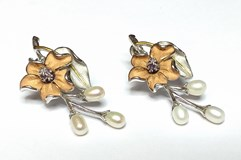 SILVER EARRINGS AND GOLD PLATED - OWN - PTE/IRIS