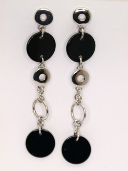 Earrings disc Onyx 0084 NUOVEGIOIE