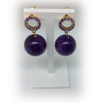 EARRING ELIO BERHANYER GOLD AND AMETHYST 6380-P