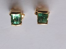 Earrings Emerald gold 1st law
