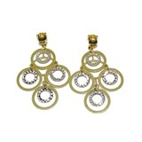 STYLISH EARRINGS OF YELLOW GOLD AND IN 18K WHITE GOLD 4.9 CM LONG AND 4.50 G OF 18K GOLD NEVER SAY NEVER
