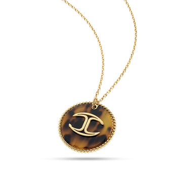 NECKLACE JUST CAVALLI YELLOW GOLD PVD STEEL RESIN CAREY SCER01